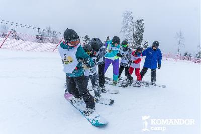 """Зимний лагерь """"Komandor Camp. Сноуборд"""""""